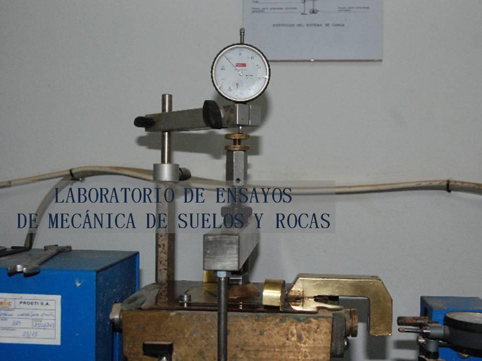 Laboratorio de ensayos de mecánica de suelos y rocas