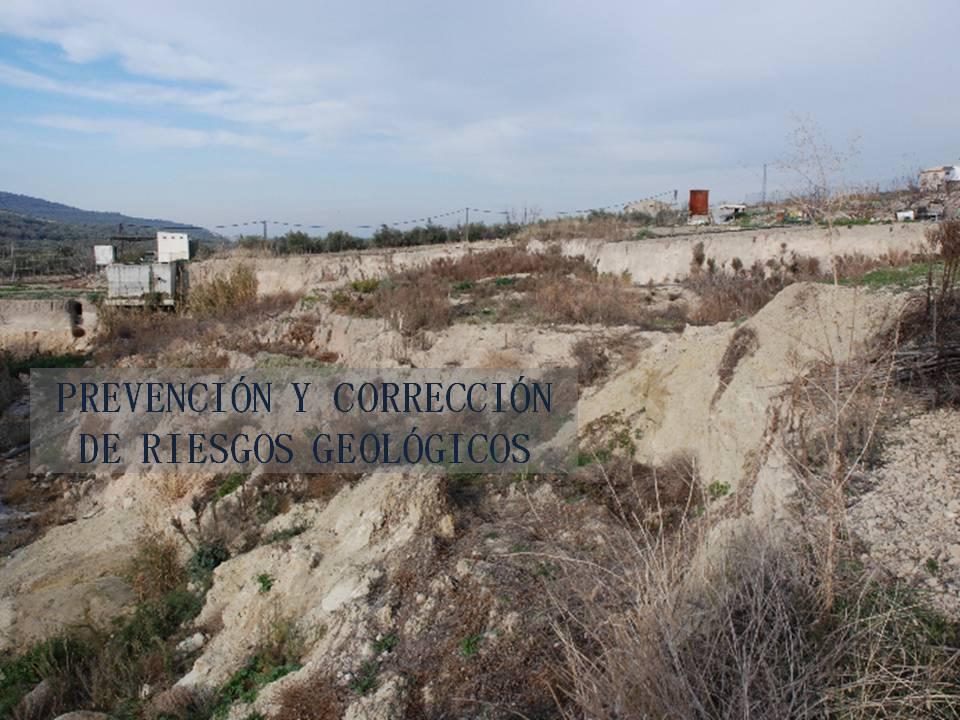 Prevención y corrección de riesgos geológicos